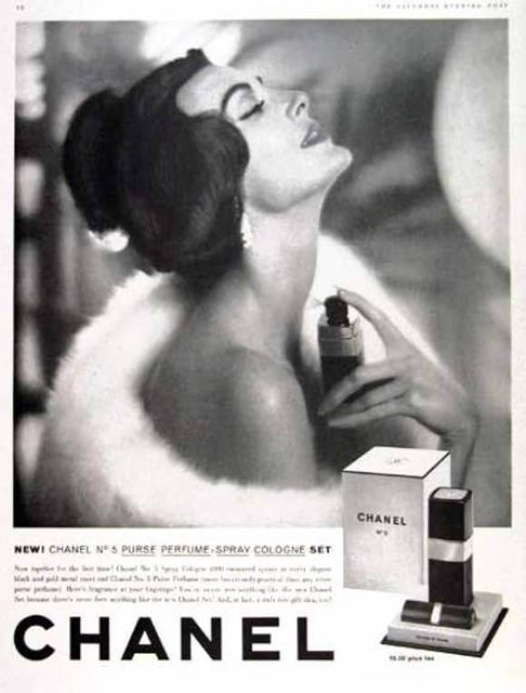 "Jill Lowe: ""Chanel No 5 Atomiser Perfume (1965)"" on DIITU Communities ""CHANEL N°5"". From https://communities.diitu.com/post/-145387998011504"