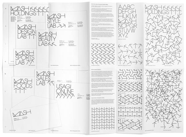"Zoe Ting: ""單看logotype有點亂來,但是他延伸到其他地方卻變得很有趣,很活潑~ 想法是來自於日本建築的代謝主義  Mash Graphic Identity Mash Holdings is a Tokyo-based company, consisting of several ..."" on DIITU Communities ""Typography"". From https://communities.diitu.com/post/-145388207802129"