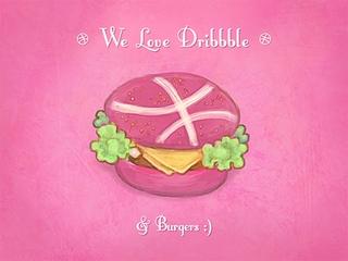 a pink dribble burger?