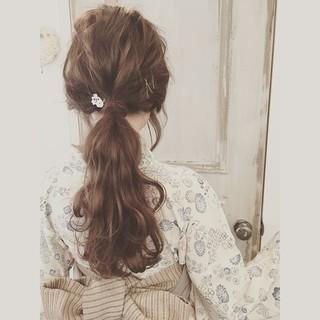 搭配浴衣的髮型