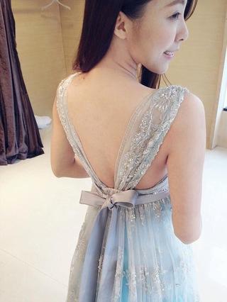 歐洲古典!浪漫情懷漸層水藍婚紗