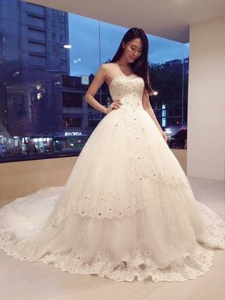 珠光寶氣公主風~氣勢蓬裙婚紗