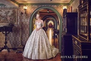 巴洛克華麗女王婚紗,重現皇室高雅!