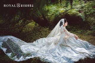 婚紗照必拍風格之一:長頭紗