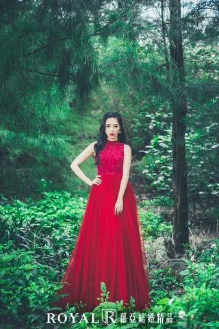 顛覆森林婚紗照的夢幻清新感